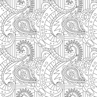 Wzór zentangle ornament strona kolorowanka
