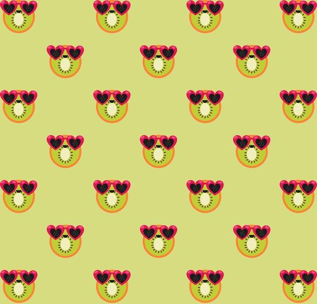 Wzór zielony kiwi