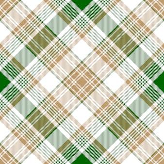Wzór zielony kratka złoto przekątnej kratę