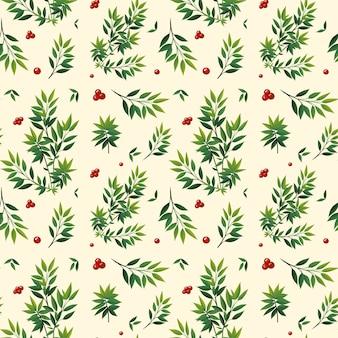 Wzór zielony liść