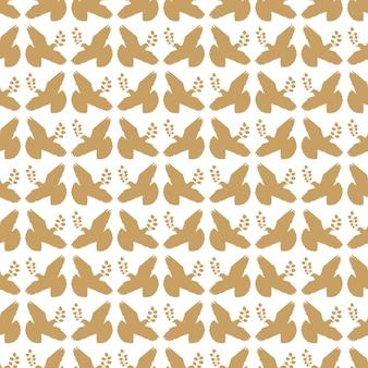 Wzór złoto vintage gołąbek pokoju