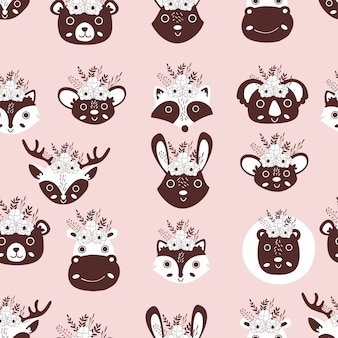 Wzór zwierzęta ładny