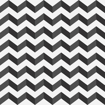 Wzór zygzakowaty drukuj w czerni i bieli z cieniem typ poziomy