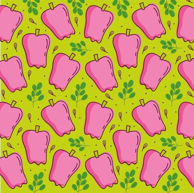 Wzór żywności, ilustracja świeże warzywa składnik papryki