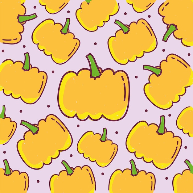 Wzór żywności, ilustracji tle dekoracji dyni warzyw