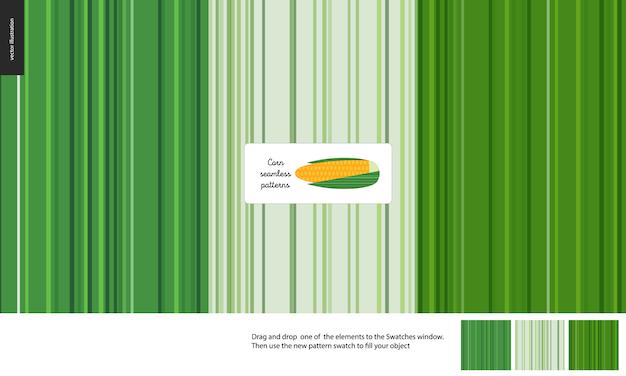 Wzór żywności, warzywa, liście kukurydzy