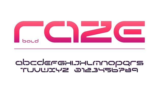Wzornik małych liter i cyfr, alfabet, typografia