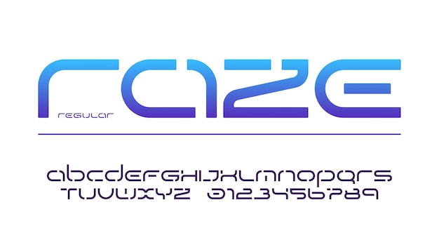 Wzornik małych liter i cyfr, alfabetu, typografii. ilustracja wektorowa