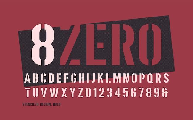 Wzornikowa pogrubiona waga dekoracyjna san serif.