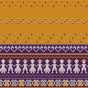 Wzory dziania grandmas ugly sweater
