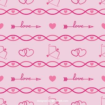 Wzory fantastic walentynki ze strzałkami i serc