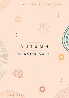 Wzory geometryczne dla webdesign. jesienny baner na zakupy.