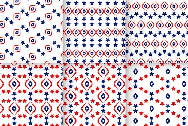Wzory gwiazdy usa w narodowych barwach ameryki