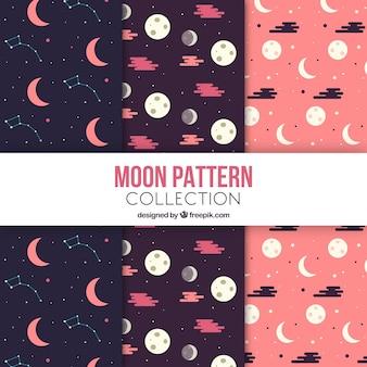 Wzory księżyców w płaskiej konstrukcji
