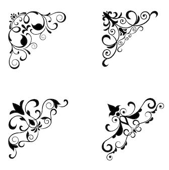 Wzory kwiatów i granice
