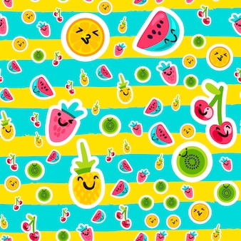 Wzory letnich owoców