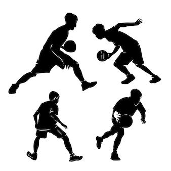 Wzory logo gracza koszykówki