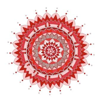 Wzory mandali na na białym tle