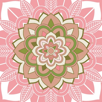 Wzory mandali na różowo