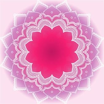 Wzory mandali na różowym tle