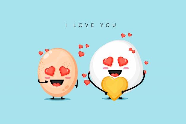 Wzory maskotki z kurczaka są zakochane