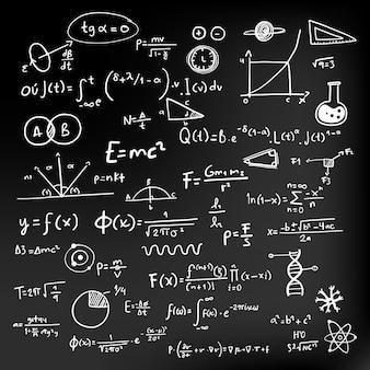 Wzory naukowe na tablicy