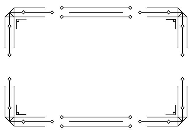 Wzory ozdoby w stylu art deco kaligrafia dzielniki strony vintage design kwiatowy elegancki wystrój