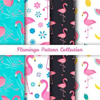Wzory ptaków flamingo