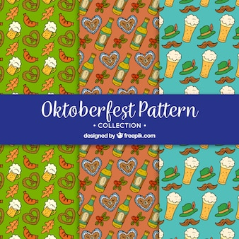 Wzory rysowane ręcznie z dodatkami niemieckimi