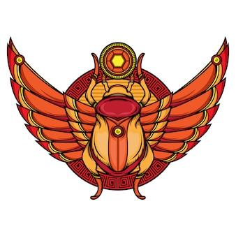 Wzory tatuaży flash khepri