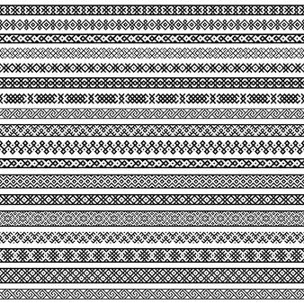 Wzory w kolorach czarnym i białym