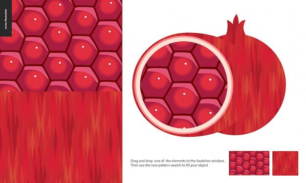 Wzory żywności granatu