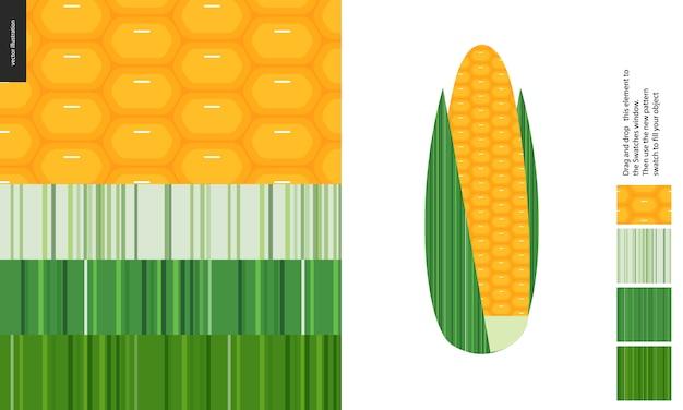 Wzory żywności kukurydzy