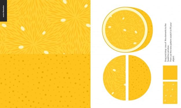 Wzory żywności z cytryny