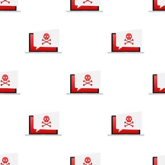 Wzorzec koncepcji bezpieczeństwa cybernetycznego. koncepcja bezpieczeństwa cybernetycznego. wirus ochrona. czas ilustracja wektorowa.