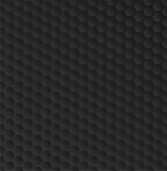 Wzorzec tekstury objętościowej czarnej siatki o strukturze plastra miodu
