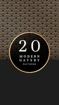 Wzorzysty baner gatsby