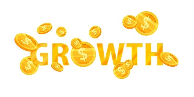 Wzrost dochodów lub zwiększenie przychodów ilustracji finansów