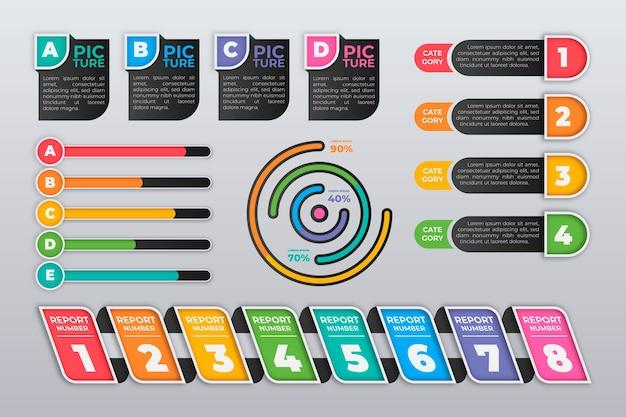 Wzrost kolekcji elementów infographic