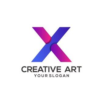 X list logo kolorowy gradient projekt