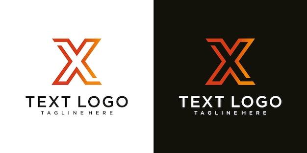 X list logo nowoczesny szablon graficzny dla biznesu luksusu