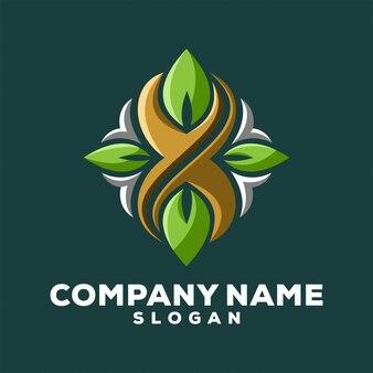 X logo leaf