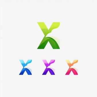X ptak ikona znak skrzydło koncepcja