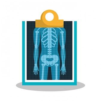 X ray cyfrowej opieki zdrowotnej na białym tle