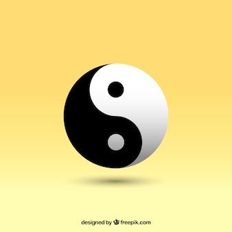 Yin yang wektor