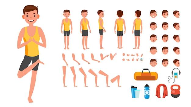 Yoga man character.