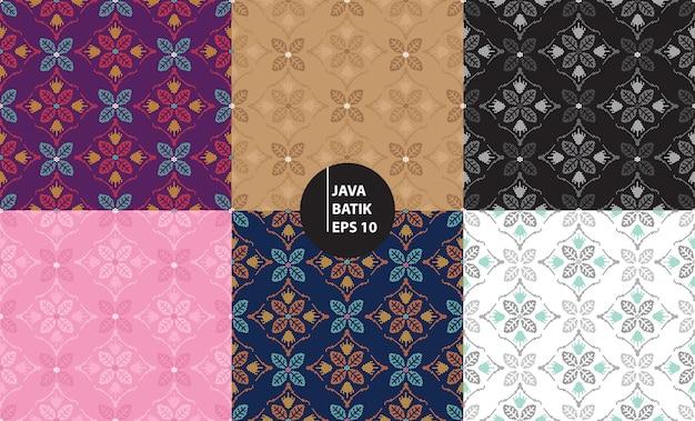 Yogyakarta java indonezja tradycyjne batik dziedzictwo bezszwowe tło wzór