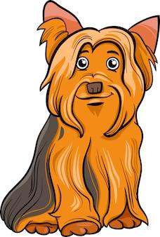Yorkshire terrier pies ilustracja kreskówka