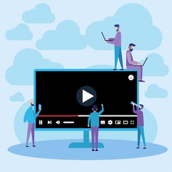Youtube player online streaming wideo