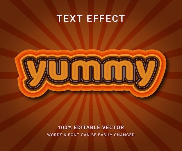 Yummy full editable effect text